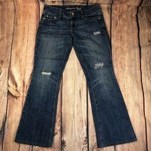 American Eagle Artist Distressed Jeans Women Sz 4